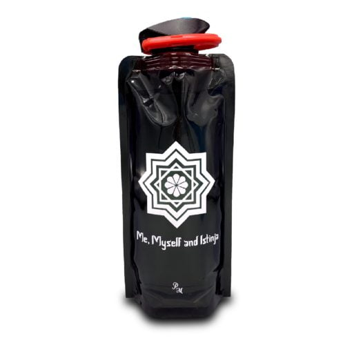 Woedoe fles zwart