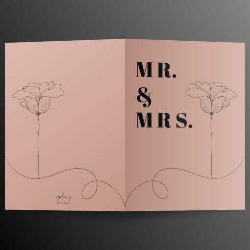 Mr. en Mrs. Huwelijkskaart 2