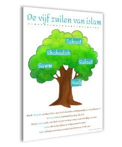 5 Zuilen poster